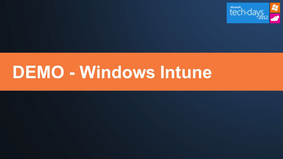 DEMO - Windows Intune