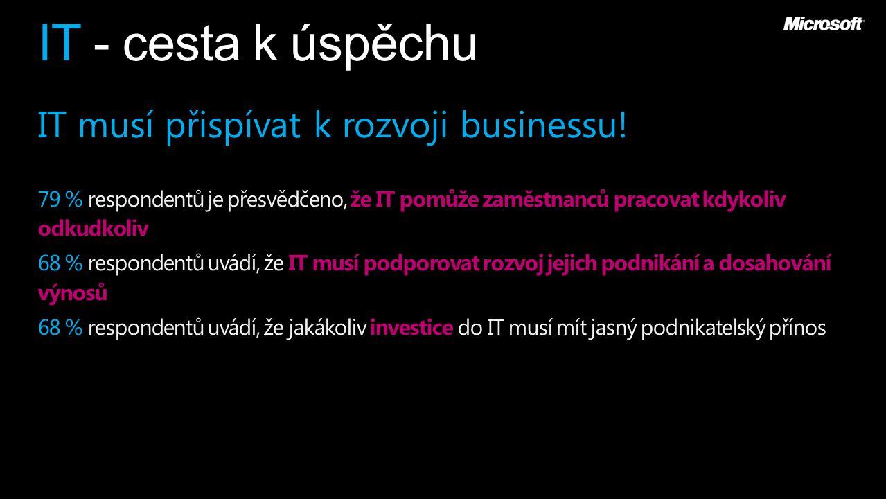 IT - cesta k úspěchu IT musí přispívat k rozvoji businessu.