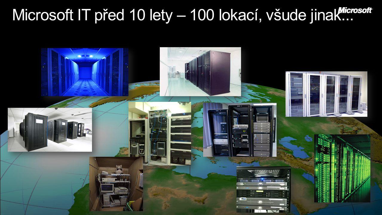 Microsoft IT před 10 lety – 100 lokací, všude jinak...