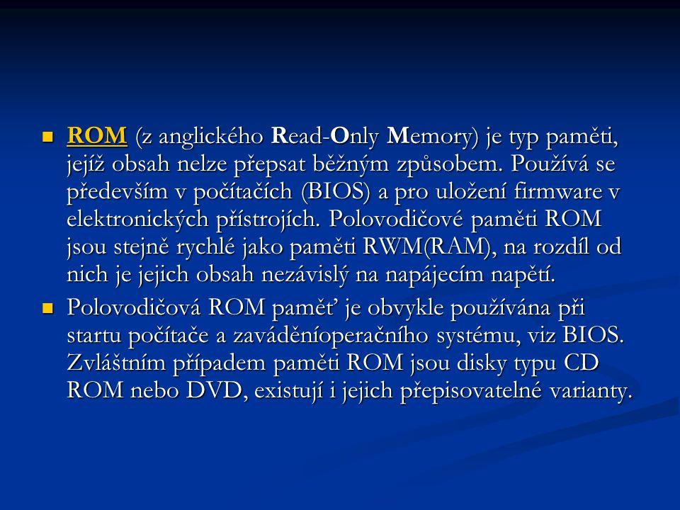 ROM (z anglického Read-Only Memory) je typ paměti, jejíž obsah nelze přepsat běžným způsobem.