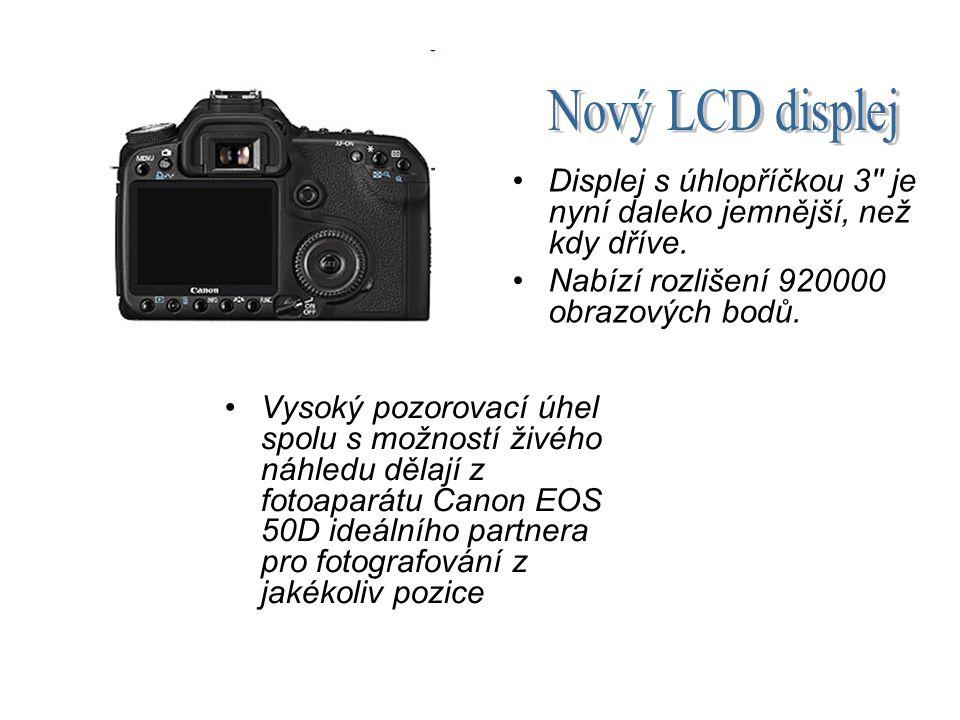 Pro lepší fotografování na špatně osvětlených místech nabízí Canon EOS 50D zcela nový, rozšířený rozsah citlivostí ISO, který otvírá fotografům zcela nový rozměr.
