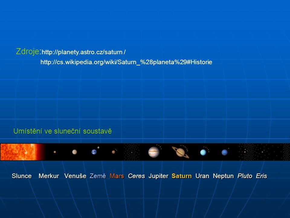Slunce Merkur Venuše Země Mars Ceres Jupiter Saturn Uran Neptun Pluto Eris Slunce Merkur Venuše Země Mars Ceres Jupiter Saturn Uran Neptun Pluto Eris