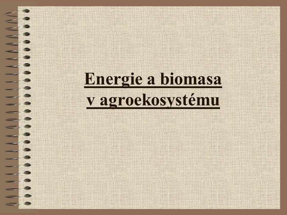 Energie biomasy Biomasa vzniká díky dopadající sluneční energii.