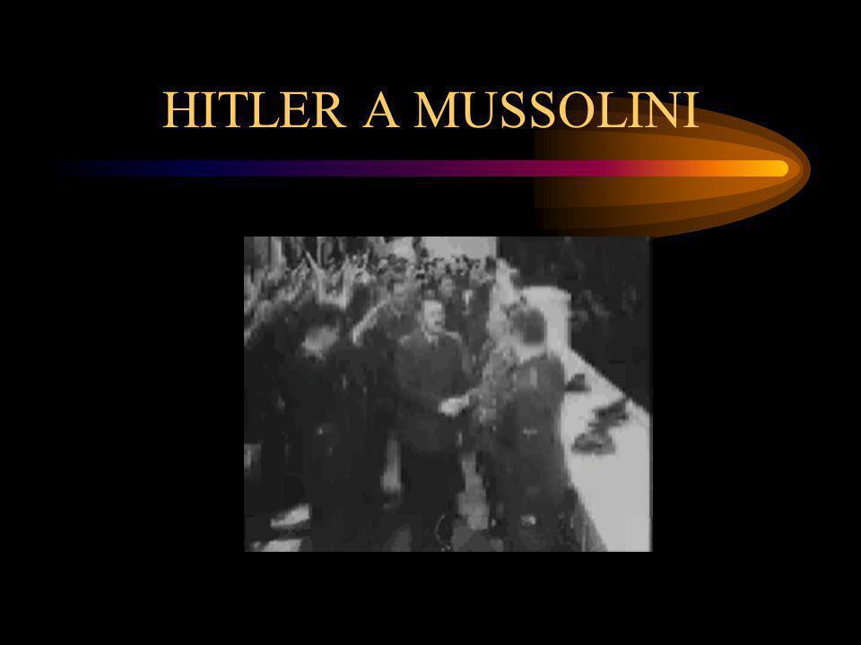 HITLER A MUSSOLINI