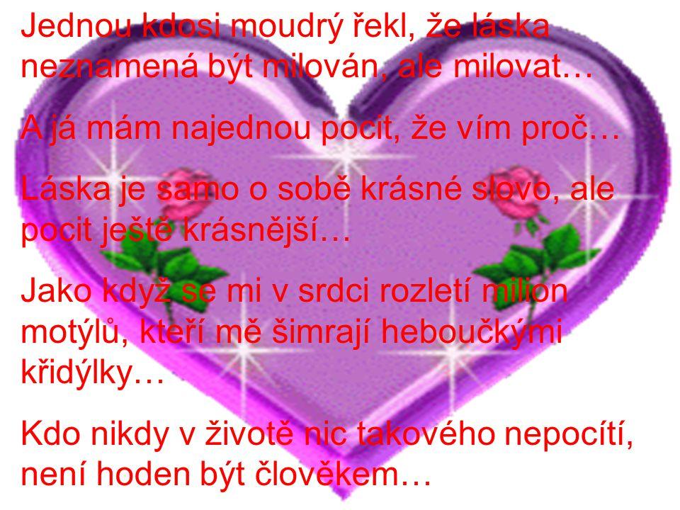 Lidé pochází z lásky, jak boží, tak i té lidské… Protože když už přijde, nemá smysl zavírat jí před nosem… Když po mě láska natáhla své hebké ruce, nesměle jsem je přijala… I když si v sobě ta něžnost nese i jisté utrpení a smutek, to nejdůležitější zůstává… Štěstí…