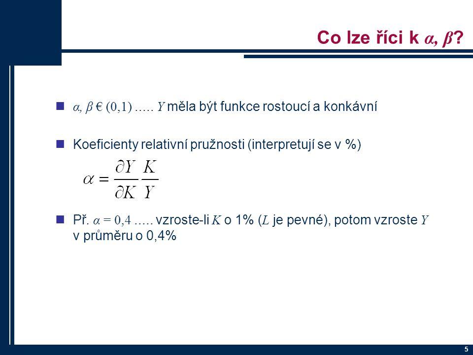 5 Co lze říci k α, β .α, β € (0,1).....