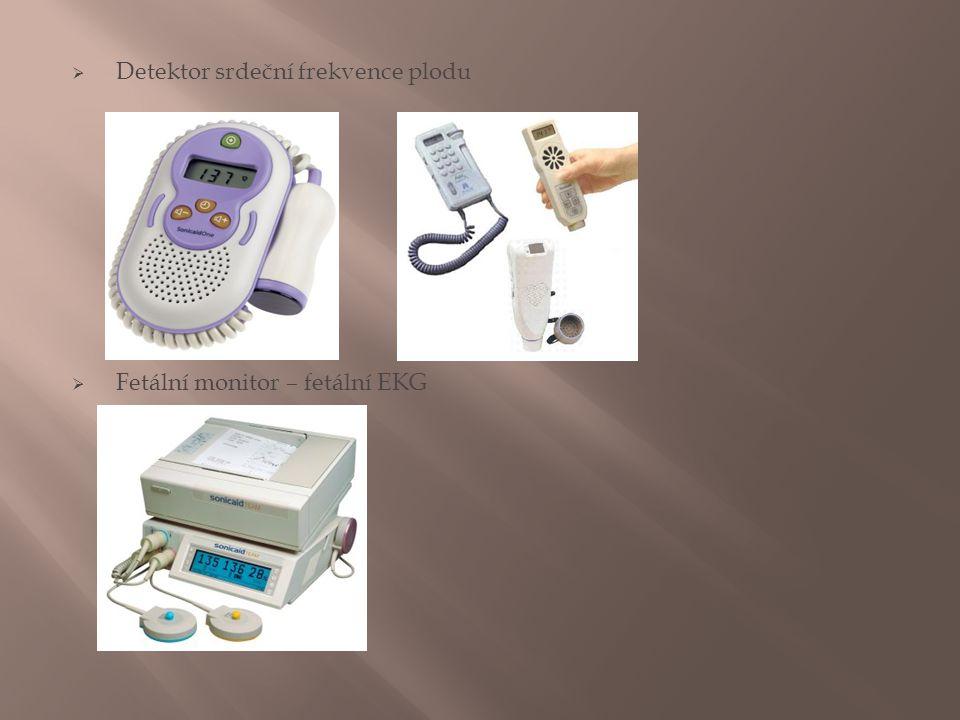  Detektor srdeční frekvence plodu  Fetální monitor – fetální EKG