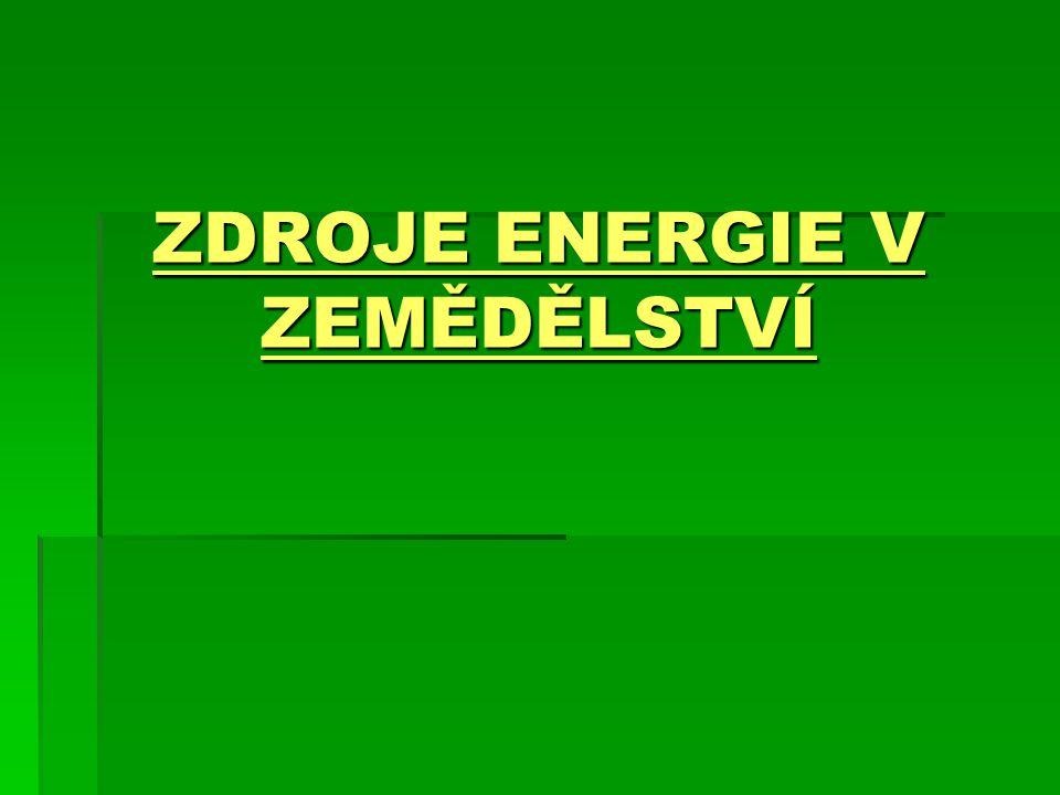Obnovitelné zdroje energie  Obnovitelné přírodní zdroje, které mají schopnost se při postupném spotřebovávání částečně nebo úplně obnovovat, a to samy nebo za přispění člověka.