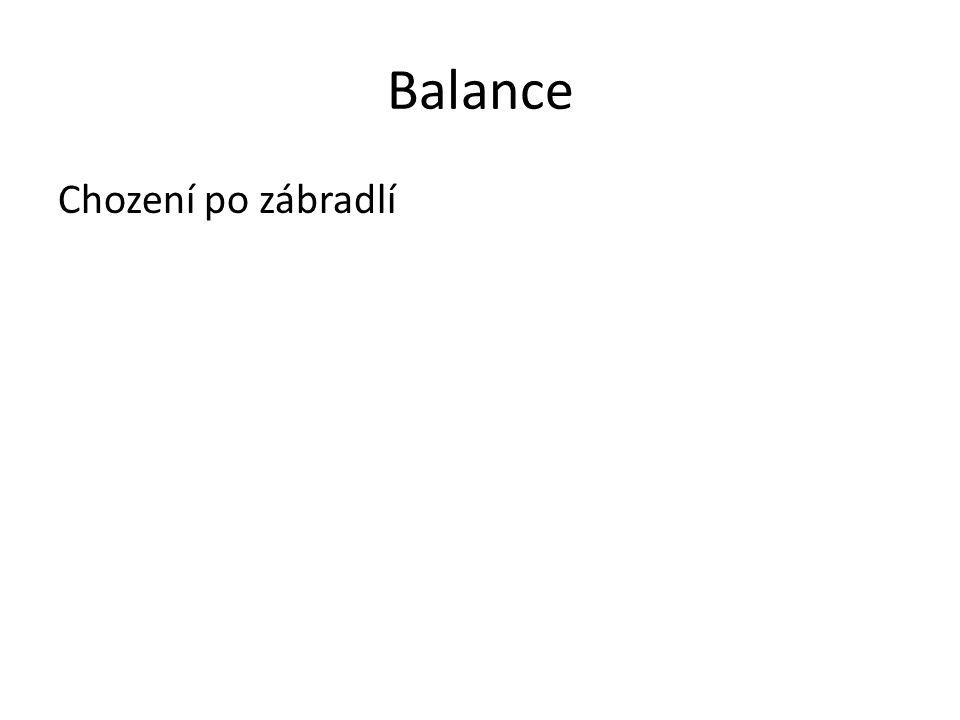 Balance Chození po zábradlí