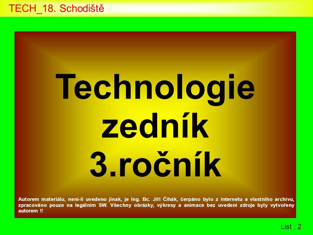 List : 2 Technologie zedník 3.ročník Autorem materiálu, není-li uvedeno jinak, je Ing. Bc. Jiří Čihák, čerpáno bylo z internetu a vlastního archivu, z