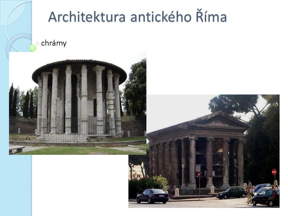 Architektura antického Říma chrámy
