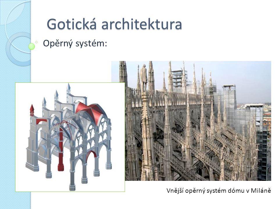 Gotická architektura Opěrný systém: Vnější opěrný systém dómu v Miláně
