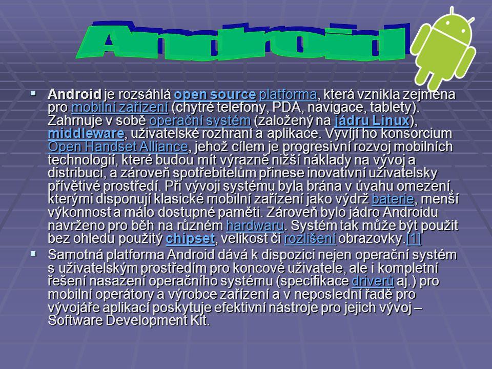 1.5 (Cupcake) Linuxové jádro 2.6.27 30.
