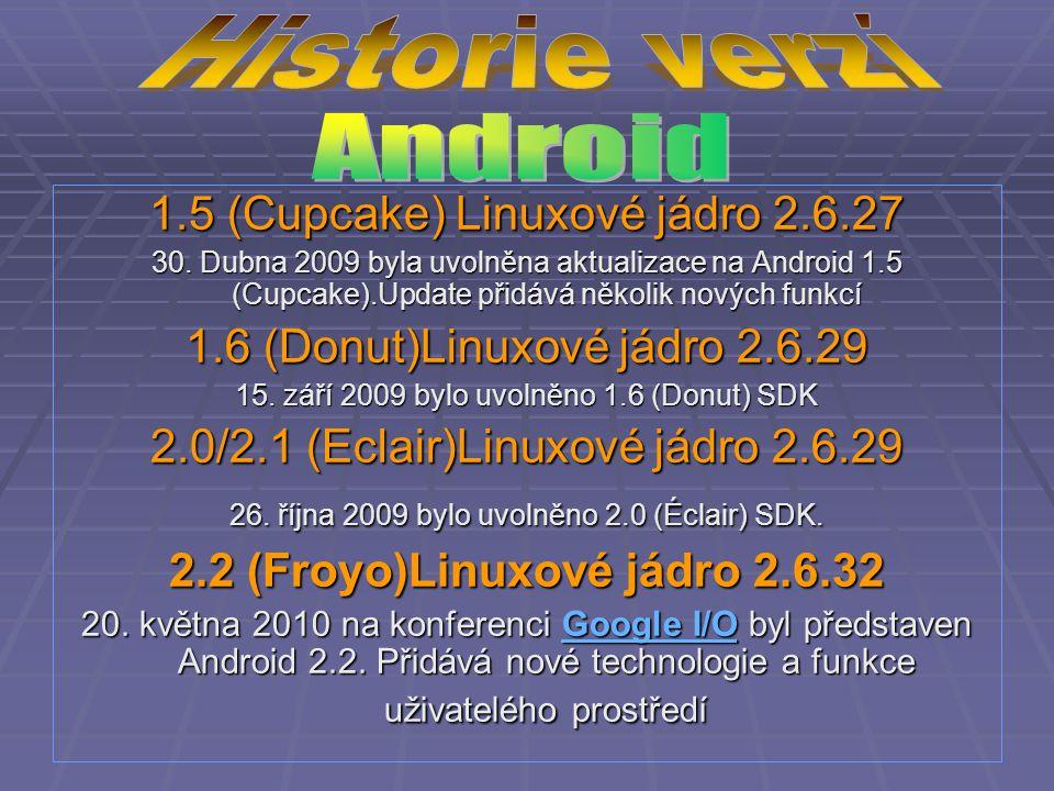  20.května 2010 na konferenci Google I/O byl představen Android 2.2.