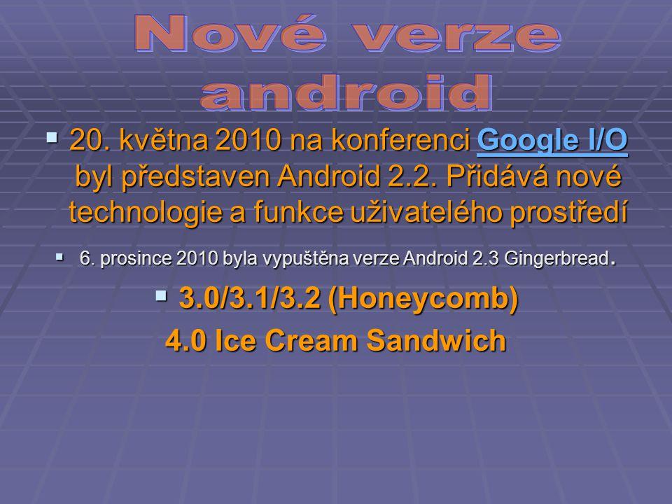  20. května 2010 na konferenci Google I/O byl představen Android 2.2.