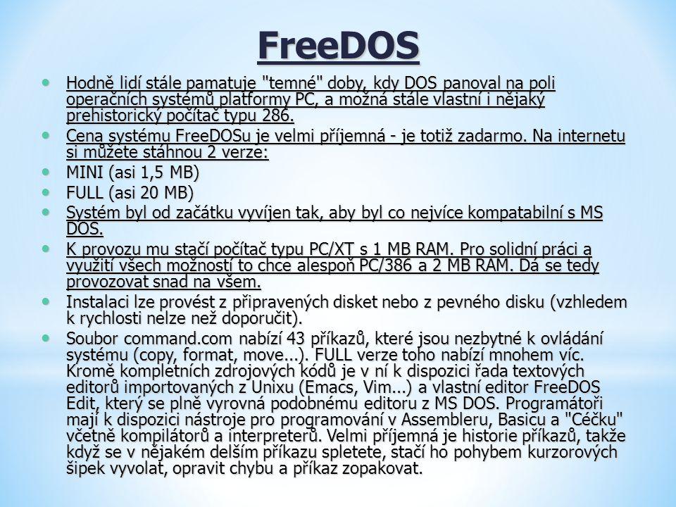 FreeDOS Hodně lidí stále pamatuje