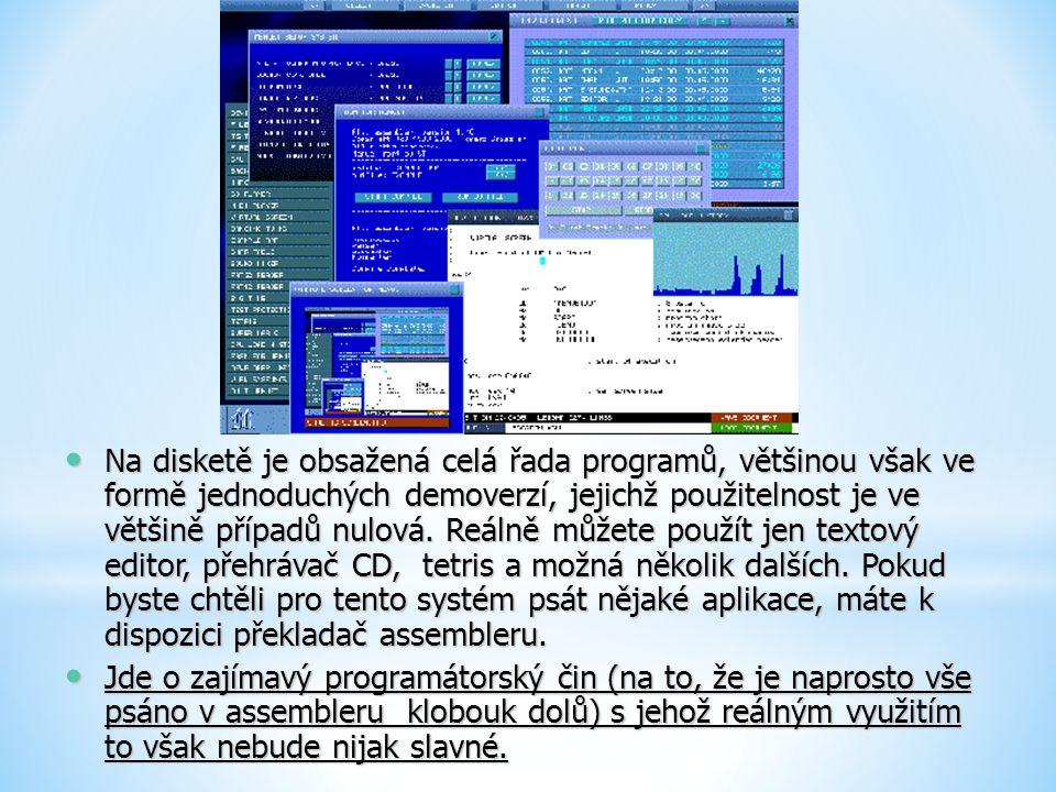 Na disketě je obsažená celá řada programů, většinou však ve formě jednoduchých demoverzí, jejichž použitelnost je ve většině případů nulová. Reálně mů