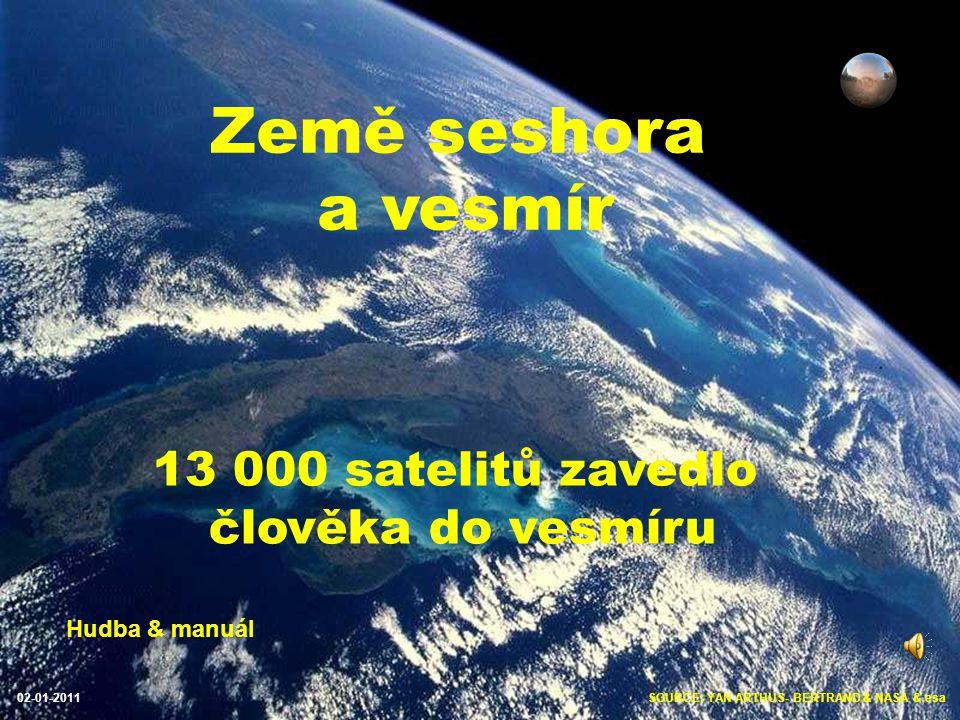 SOURCE: YAN ARTHUS- BERTRAND & NASA & esa02-01-2011 Země seshora a vesmír 13 000 satelitů zavedlo člověka do vesmíru Hudba & manuál
