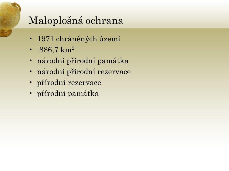1971 chráněných území 886,7 km 2 národní přírodní památka národní přírodní rezervace přírodní rezervace přírodní památka