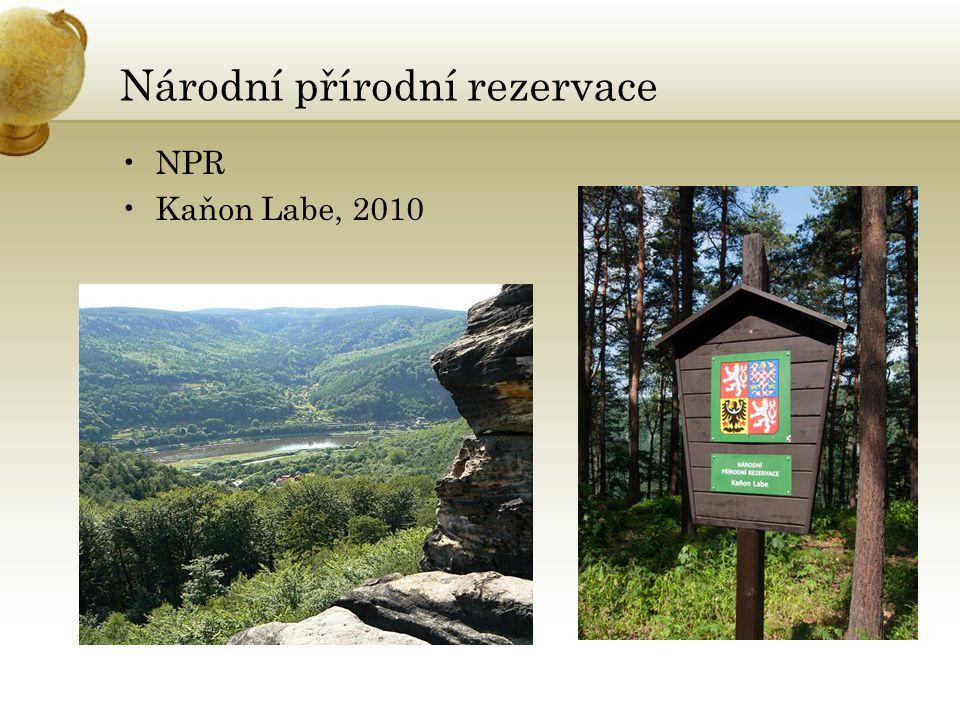 Národní přírodní rezervace NPR Kaňon Labe, 2010