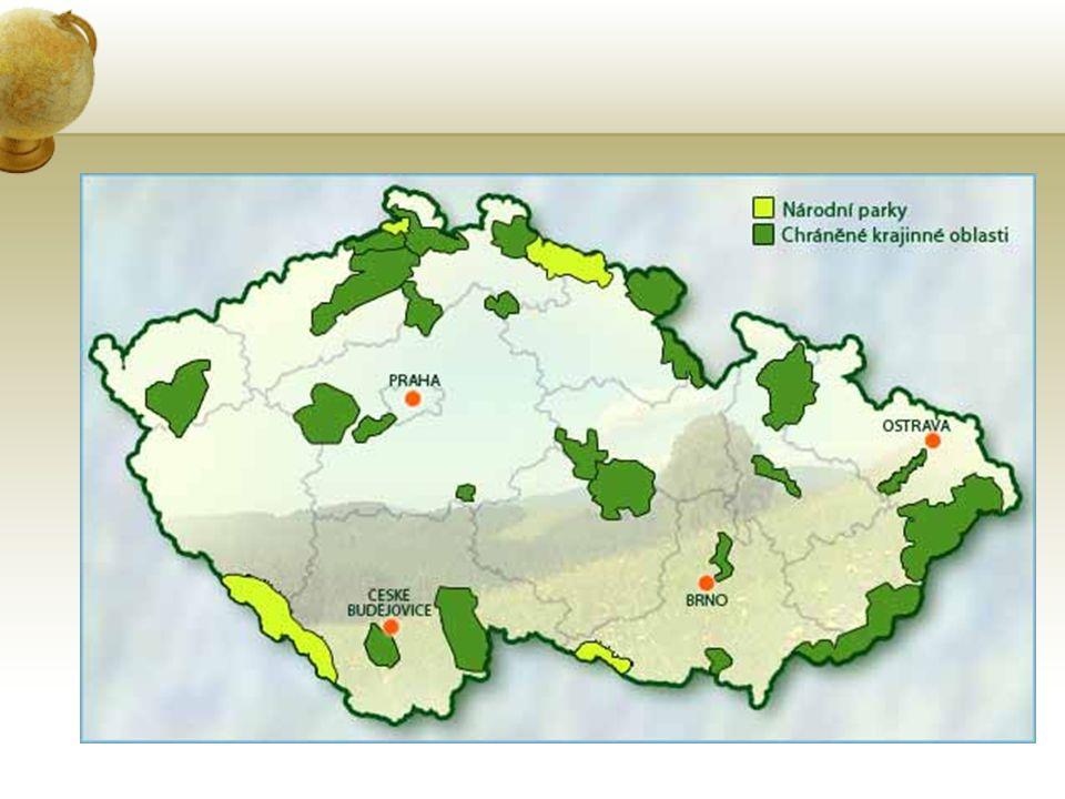 Národní parky (4), CHKO (25) Krkonošský národní park Národní park Podyjí Národní park Šumava Národní park České Švýcarsko Zákon o ochraně přírody a krajiny