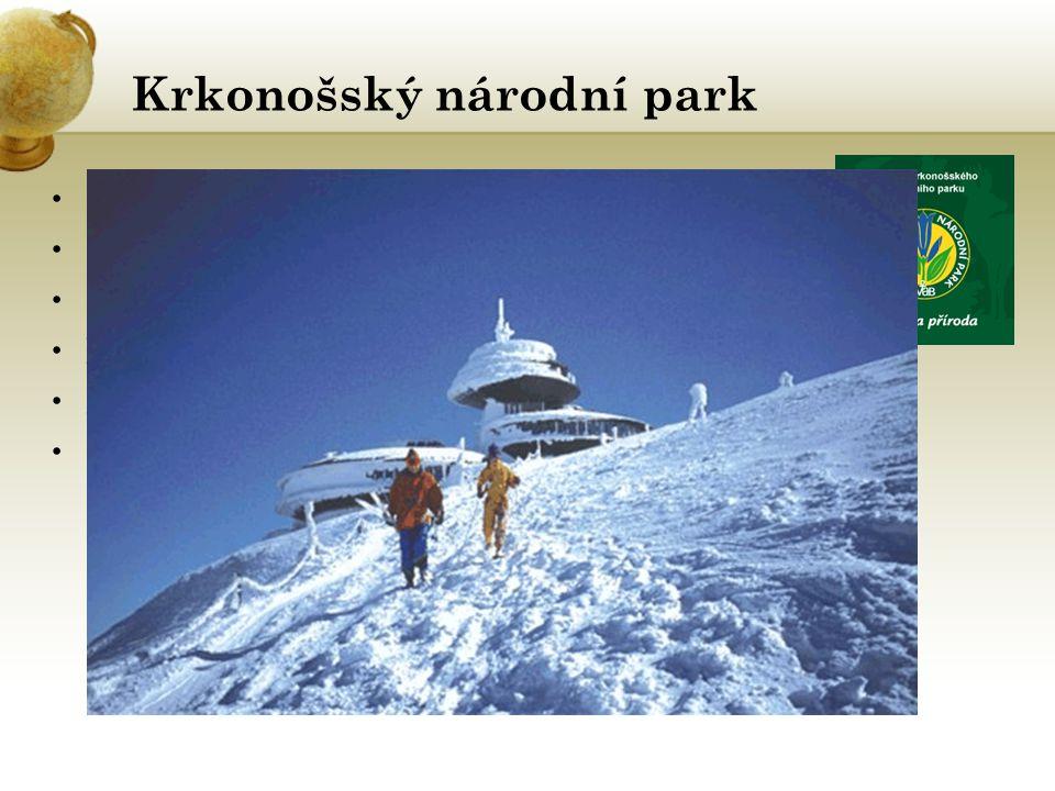 Krkonošský národní park První český NP, nejstarší 17.Května 1963 Fakta: Rozloha NP: 362 km 2 Nadmořská výška : 400 až 1602 m.n.m.