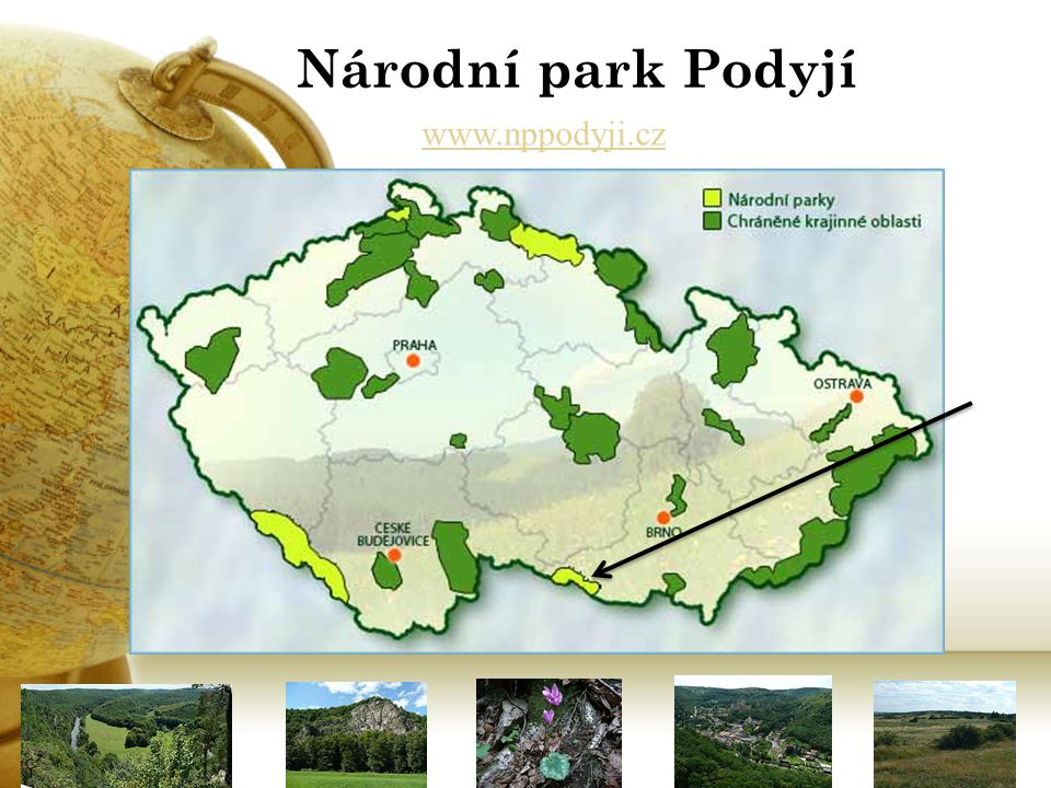 Národní park Podyjí Říční údolí v zalesněné krajině jihozápadní Moravy 1.