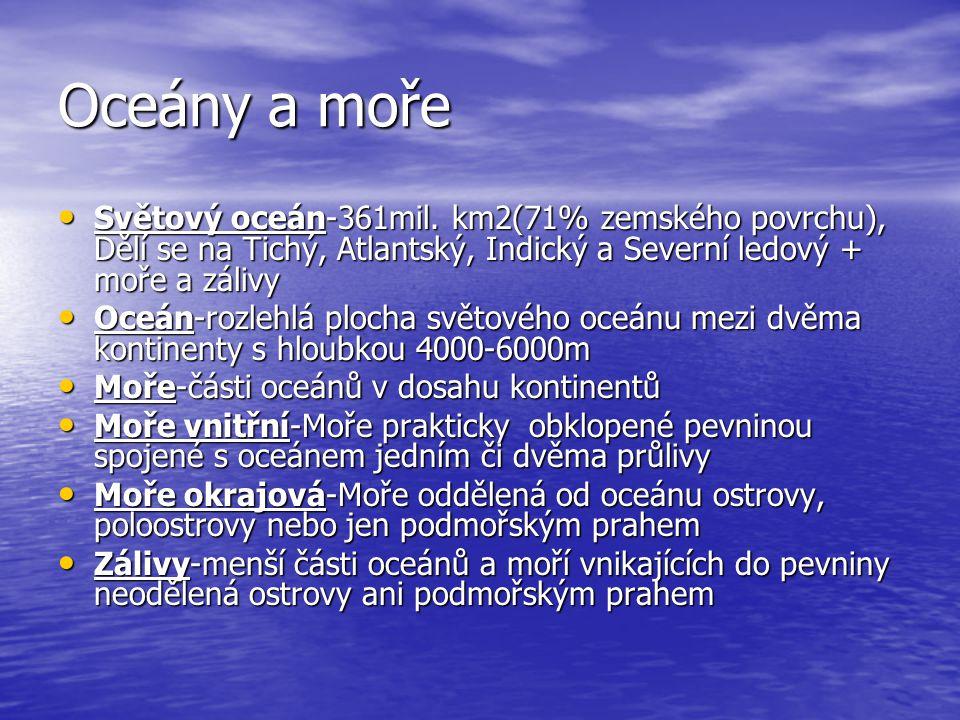 Oceány a moře Světový oceán-361mil.