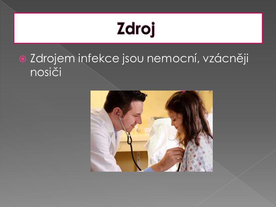  závisí na zdravotním stavu infikované osoby, druhu infekčního agens, je však většinou krátká, od dvou do deseti dnů.