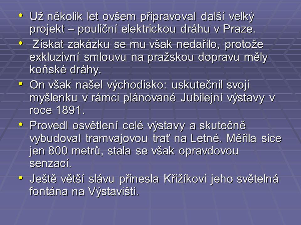 Během svého života postupně vybavil na 130 českých elektráren svým zařízením.
