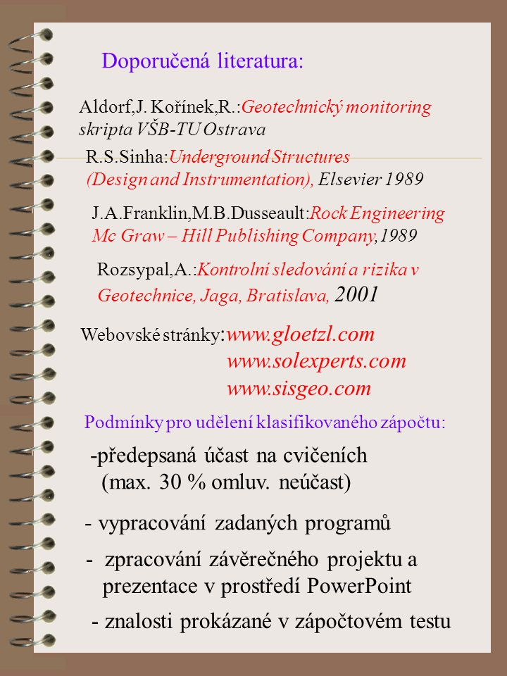 Doporučená literatura: Aldorf,J.