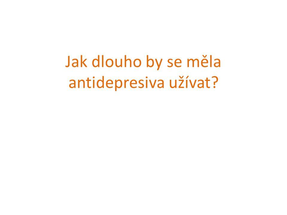 Jak dlouho by se měla antidepresiva užívat?