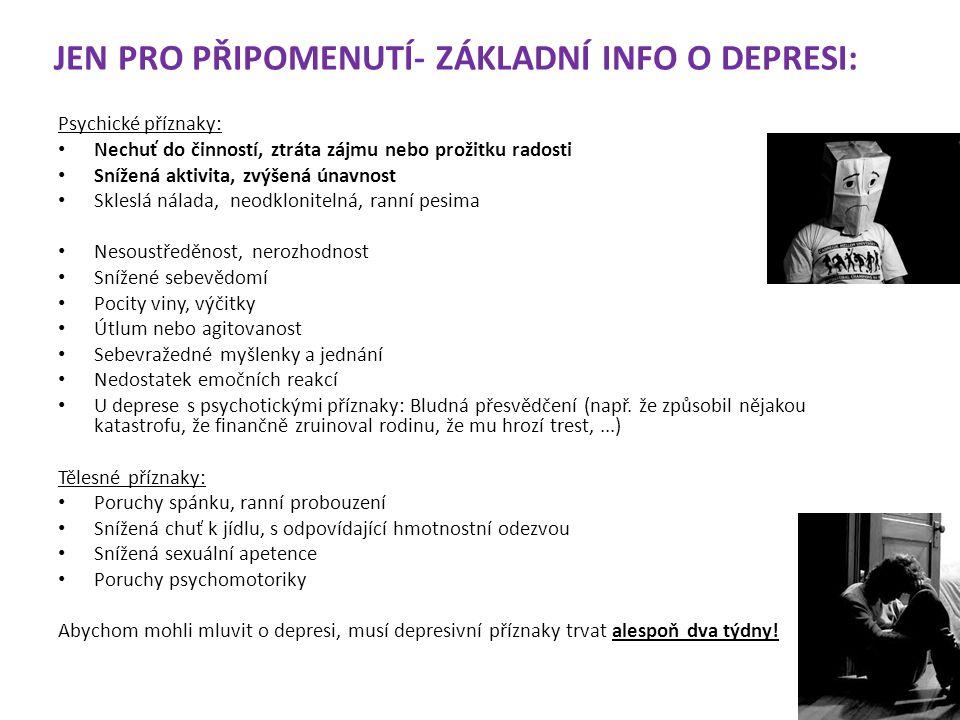 INDIKACE ANTIPSYCHOTIK Schizofrenie Poruchy s bludy Afektivní poruchy s psychotickými symptomy Organické a toxické psychotické poruchy Některá AP se používají i jako tymoprofylaktika