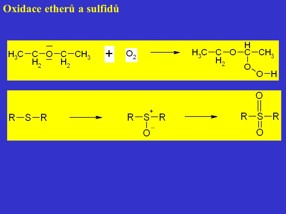 Oxidace etherů a sulfidů
