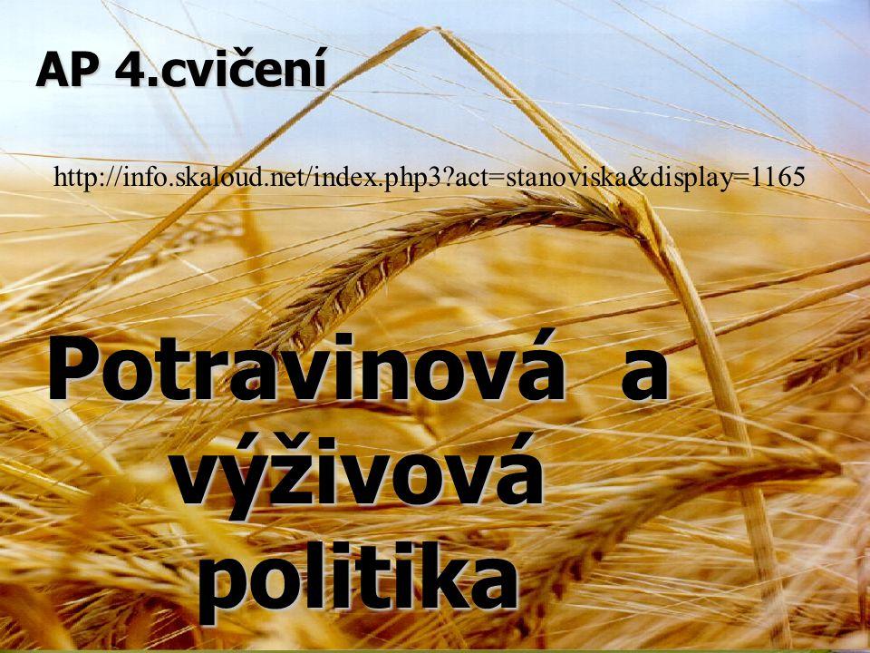 Potravinová a výživová politika AP 4.cvičení http://info.skaloud.net/index.php3?act=stanoviska&display=1165