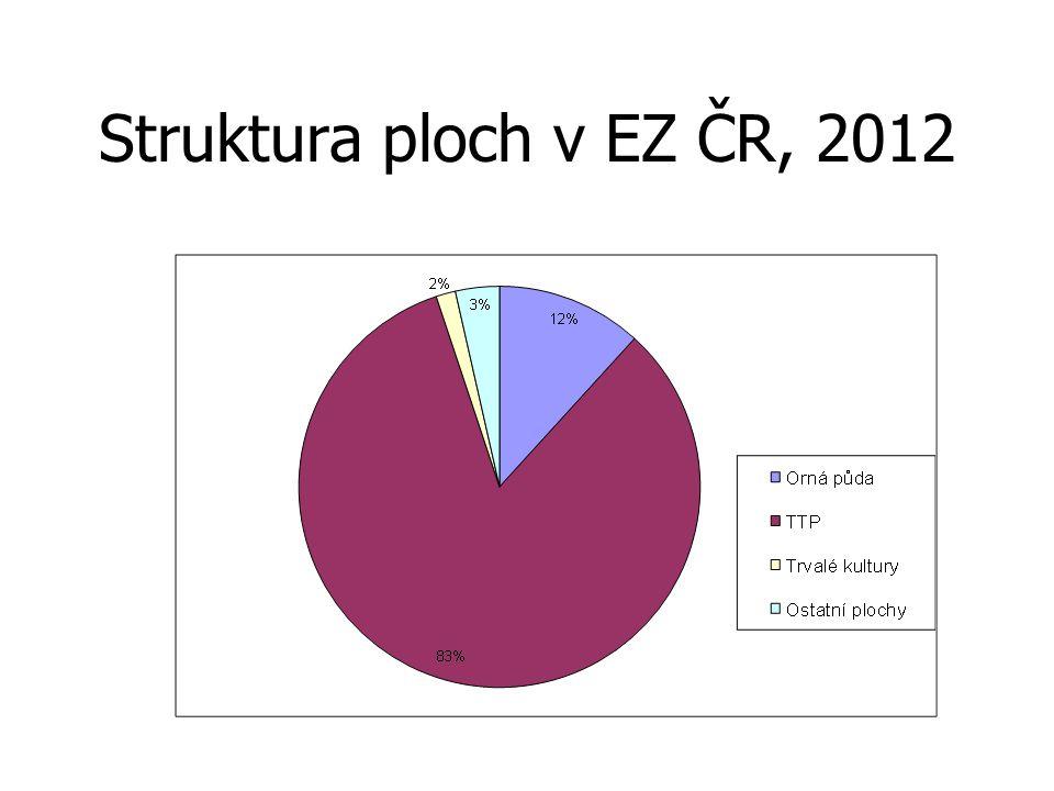 Struktura ploch v EZ ČR, 2012