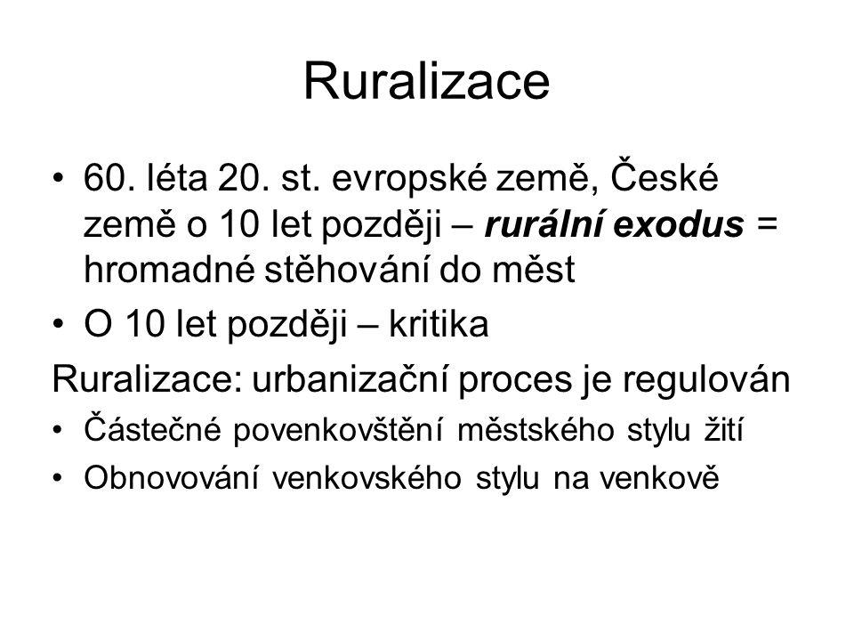 Ruralizace 60.léta 20. st.