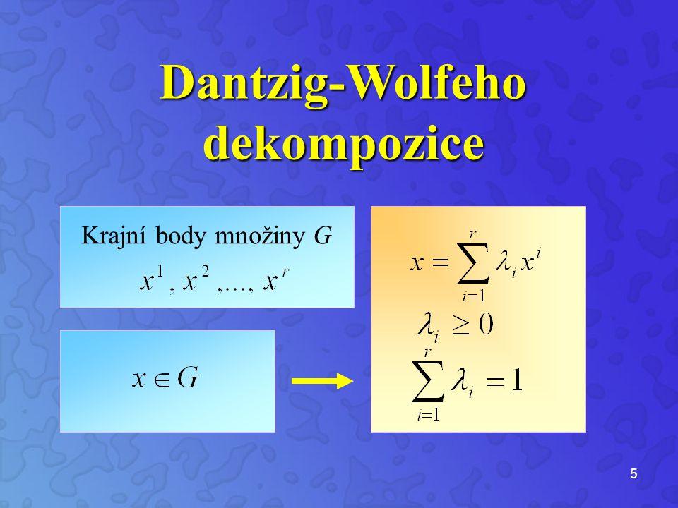 5 Krajní body množiny G Dantzig-Wolfehodekompozice