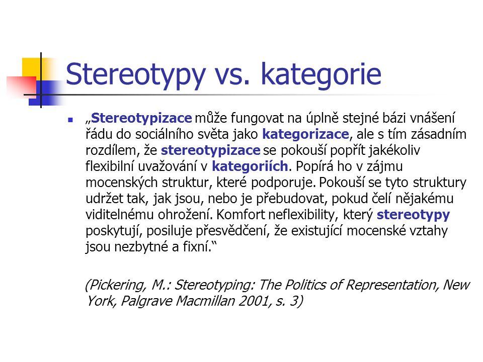 Média, minority a stereotyp II vede k situační atribuci = vlastnosti situace vztahovány na její subjekt výběr zahr.