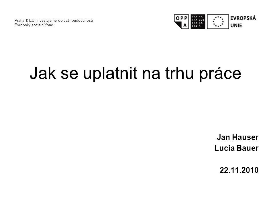 Představení kolegy/ně a jeho/její úspěchy, neúspěchy při hledání práce Očekávání od dnešního workshopu Praha & EU: Investujeme do vaší budoucnosti Evropský sociální fond