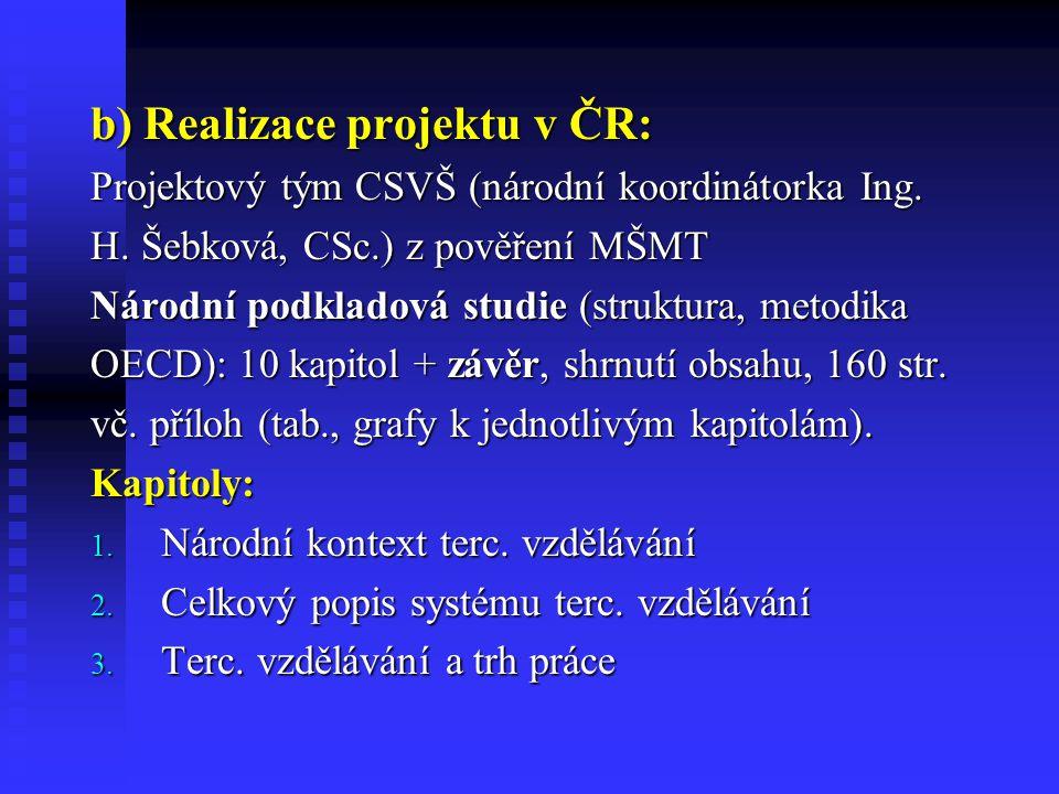 4.Regionální role terc. vzdělávání 5. Výzkum a vývoj v terc.