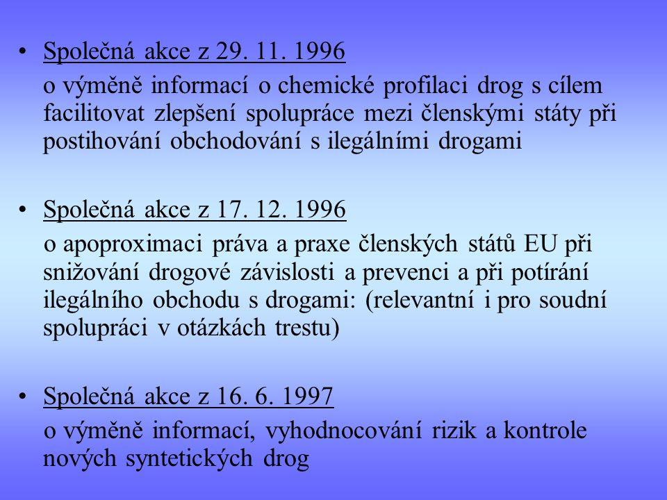 Společná akce z 29. 11. 1996 o výměně informací o chemické profilaci drog s cílem facilitovat zlepšení spolupráce mezi členskými státy při postihování