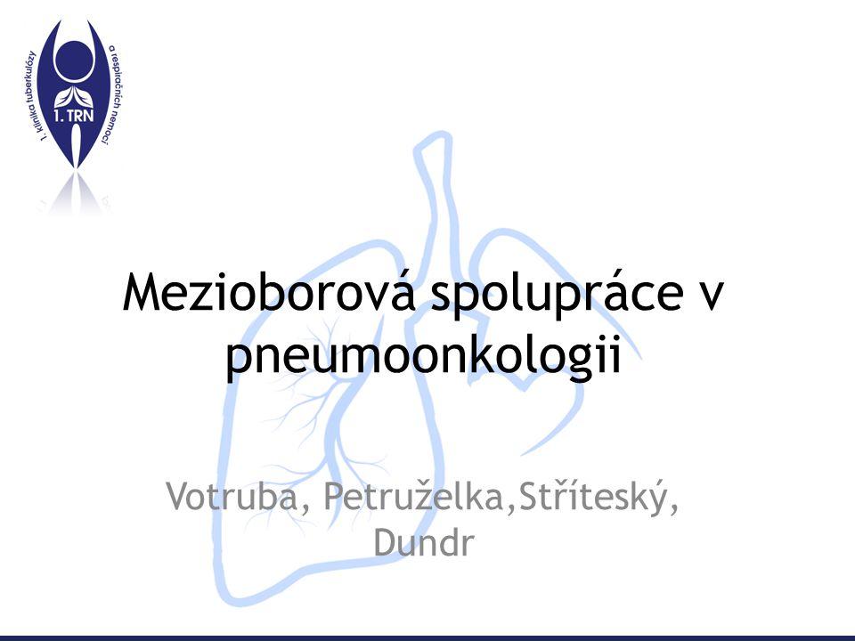 Mezioborová spolupráce v pneumoonkologii Votruba, Petruželka,Stříteský, Dundr