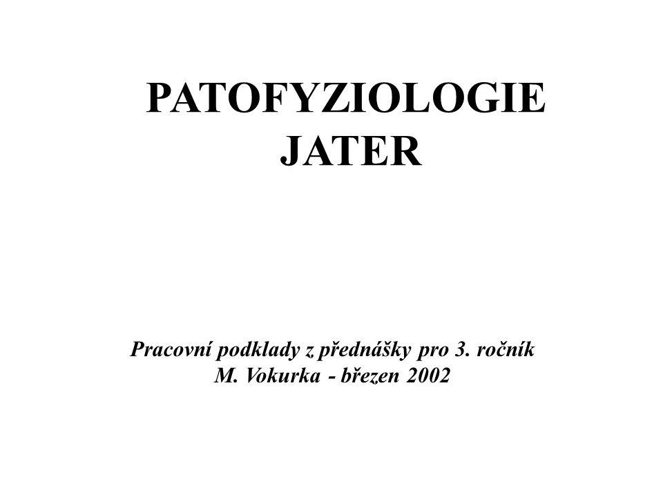 PATOFYZIOLOGIE JATER Pracovní podklady z přednášky pro 3. ročník M. Vokurka - březen 2002