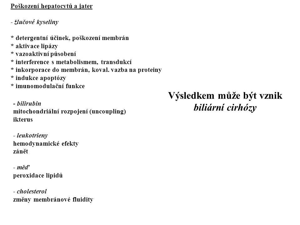 Kanalikulární poruchy * cholangitidy vč.