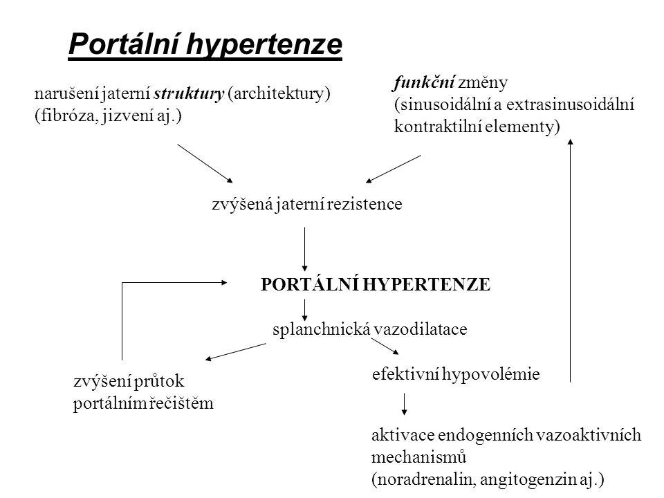 1) insuficience jaterního parenchymu ( nedostatek funkčních buněk ) 2) poruchy průtoku krve játry - portální hypertenze Projevy jaterních chorob