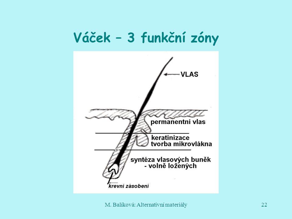 M. Balíková: Alternativní materiály22 Váček – 3 funkční zóny