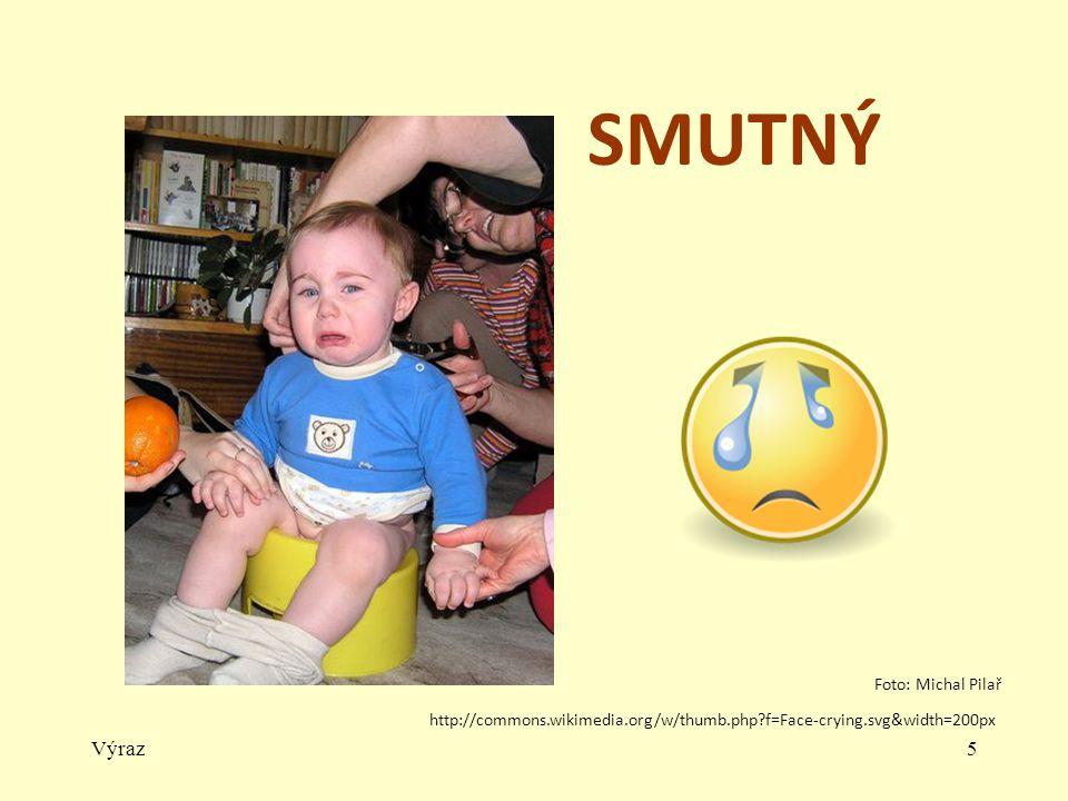 Výraz5 SMUTNÝ http://commons.wikimedia.org/w/thumb.php?f=Face-crying.svg&width=200px Foto: Michal Pilař