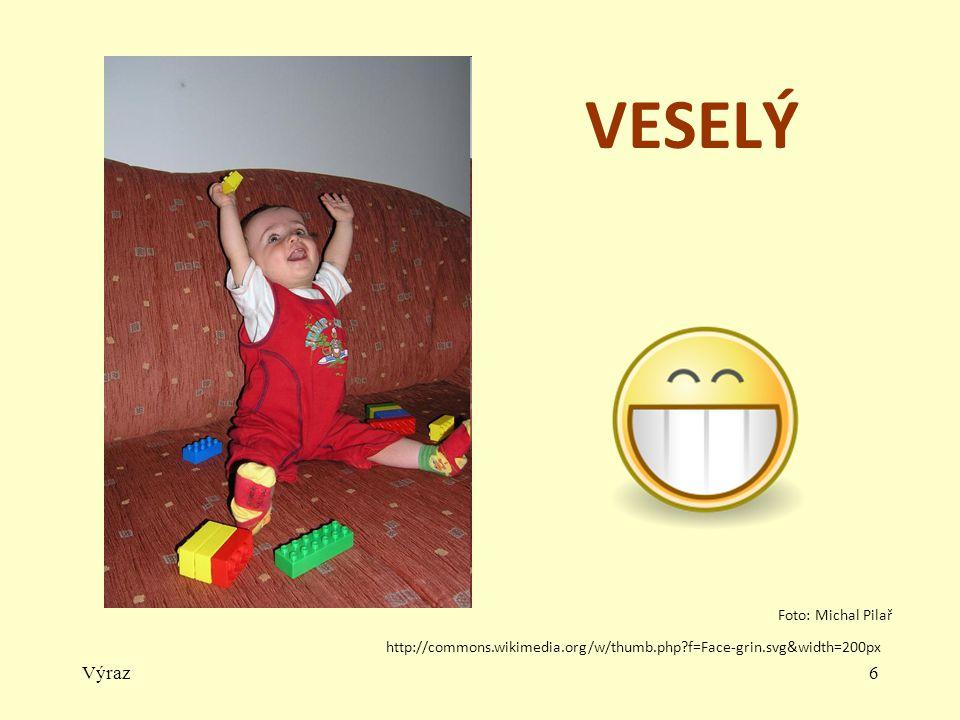 Výraz5 SMUTNÝ http://commons.wikimedia.org/w/thumb.php f=Face-crying.svg&width=200px Foto: Michal Pilař