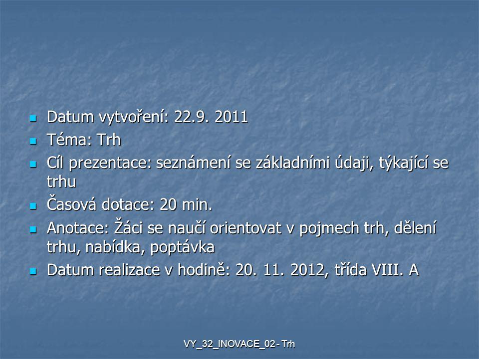Datum vytvoření: 22.9.2011 Datum vytvoření: 22.9.